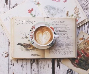 autumn, vintage, and book image
