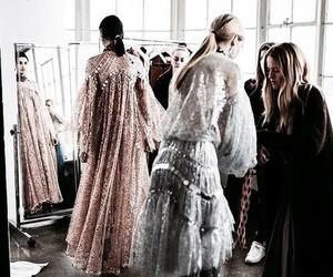 dress, model, and grey image