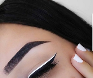 beautiful, eyeliner, and fashion image