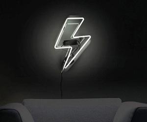 black and white, minimalistic, and lightning bolt image