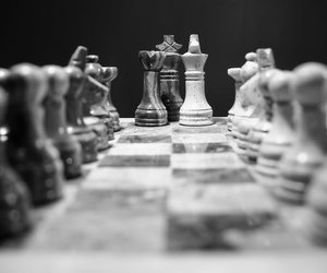 black & white and chess image