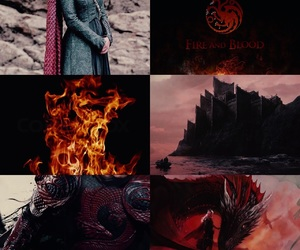 got, game of thrones, and fire and blood image