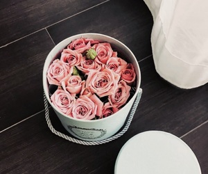bouquet, rose, and flowers image