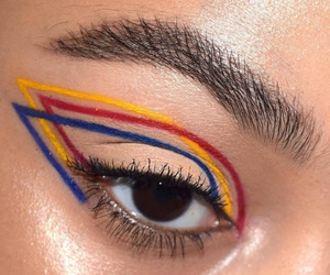 makeup, red, and yellow image