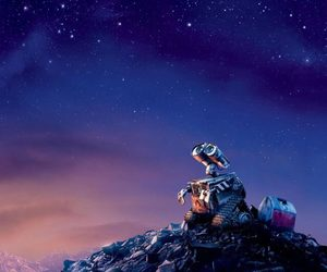 wall-e, pixar, and sky image
