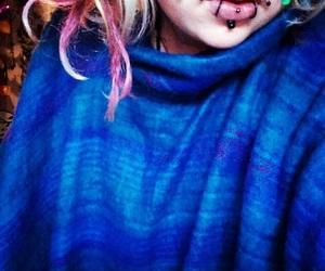 alternative, Piercings, and cheek piercings image