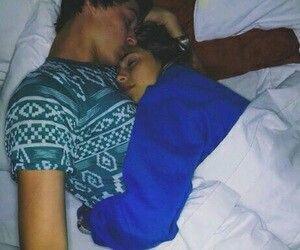 boy, couple, and cuddling image