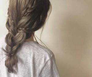 braid, braided, and girly image
