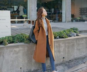 kfashion, outfit, and coat image