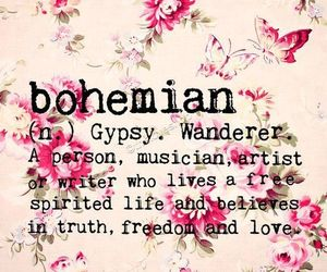 bohemian, gypsy, and quotes image