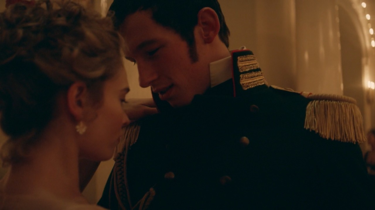 anatole kuragin, war and peace, and lily james image