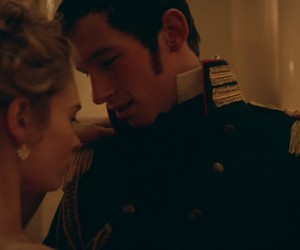 war and peace, lily james, and callum turner image