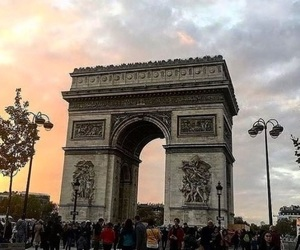 arc de triomphe, ciel, and france image