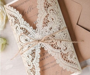 lace, invitation, and weddings image
