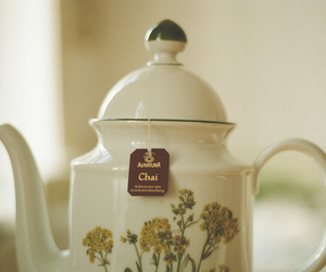 tea, flowers, and picture image