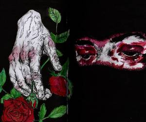 art, black, and hurt image