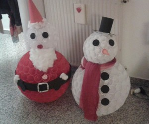 art, christmas, and snowman image
