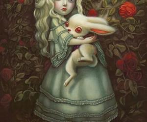 alice, alice in wonderland, and white rabbit image