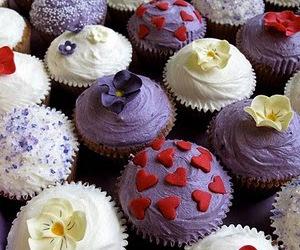 cupcake, decoration, and food image