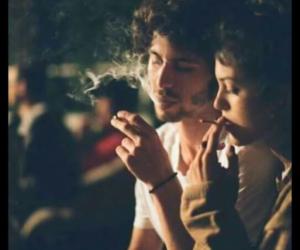 love, smoke, and cigarette image