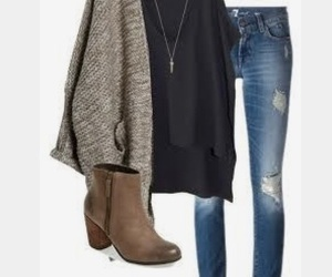 booties, cardigan, and outfit image