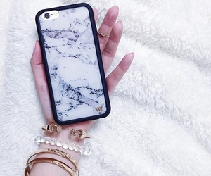 iphone, phone case, and marble image