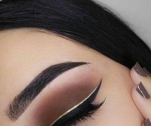 makeup, brown, and eyebrows image
