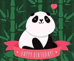 happy birthday and pandas image