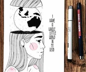 draw, drawing, and dibujo image