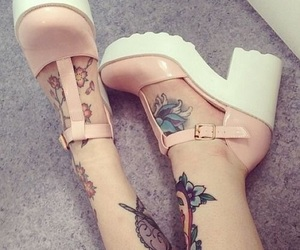 tattoo, pink, and shoes image