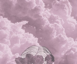 aesthetic, clouds, and girls image