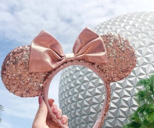 disney, mickey ears, and epcot image