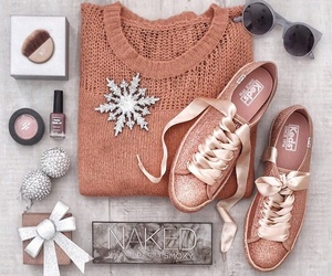 fashion, sneakers, and make up image