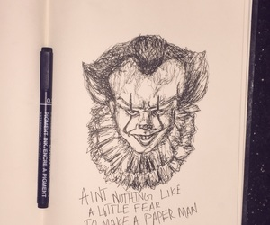 art, clowns, and ink image