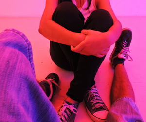 converse, couple, and in love image