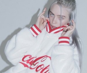 billie, coca cola, and blue eyes image