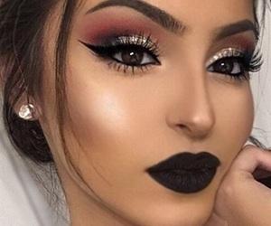 makeup, black, and beauty image
