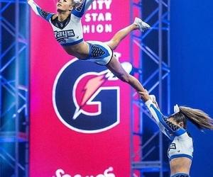 cheer, cheerleader, and flyer image