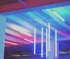 aesthetics, neon lights, and blue image