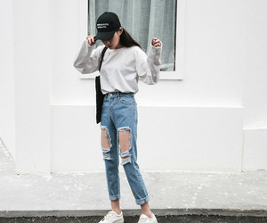 jeans, pretty, and sweater image
