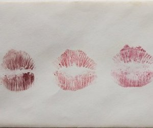 kiss, lipstick, and lips image