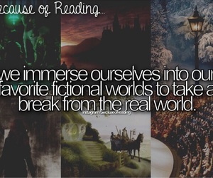 because of reading... and worlde image