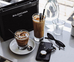 Balenciaga, cafe, and lifestyle image