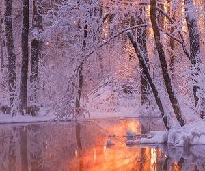 ice, snow, and lake image