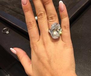 diamond, nails, and luxury image