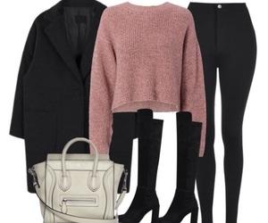black, fall, and fashion image