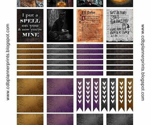 Halloween, witch, and planner stickers image