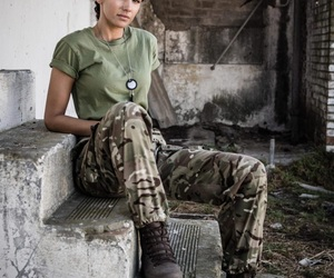 army, girl, and military image