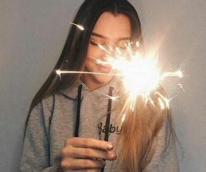girl, tumblr, and light image
