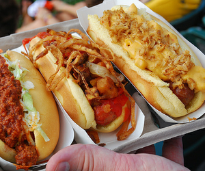 food, hot dog, and delicious image